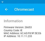 Chromecast IP address from iPad app